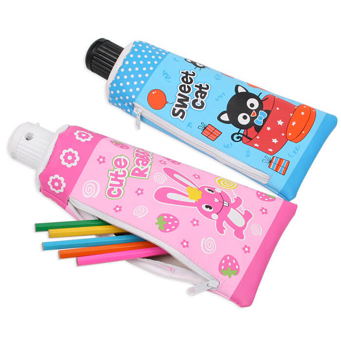 Toothpaste Pencil Pouch with Sharpener