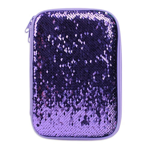 Sequin Multi Compartment Pencil Case