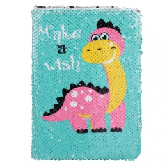 Dinosaur Sequin Notebook