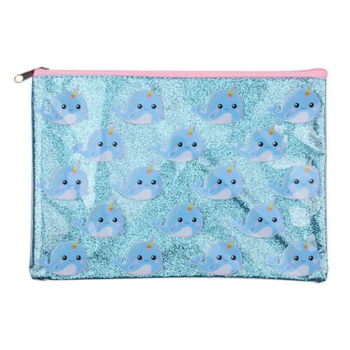 Narwhal Cool Glittering Pouch