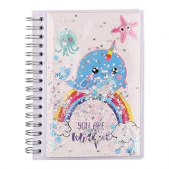 Narwhal on the Rainbow Notebook