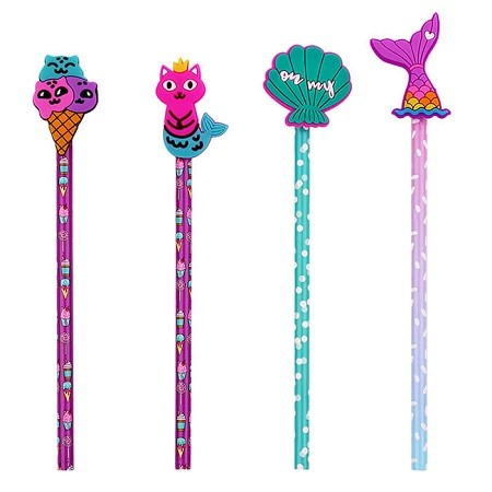Wooden Pencils with Novelty Characters