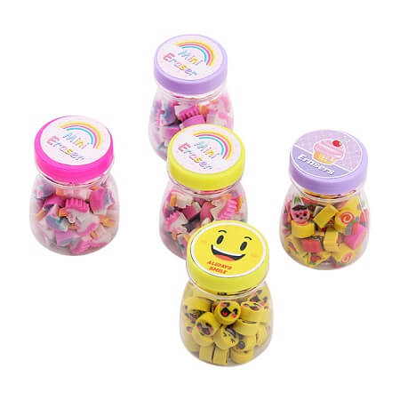 Mini Smiley Face Erasers