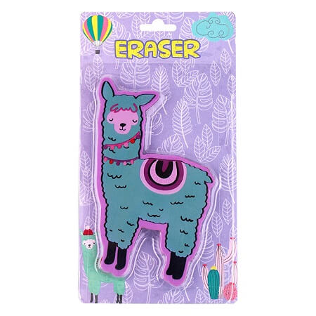 Cute Alpaca Pencil Erasers