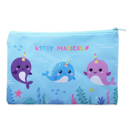 Trendy Narwhal Pencil Case