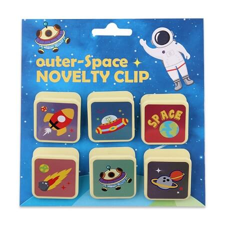 Outer-Space Plastic Binder Clips