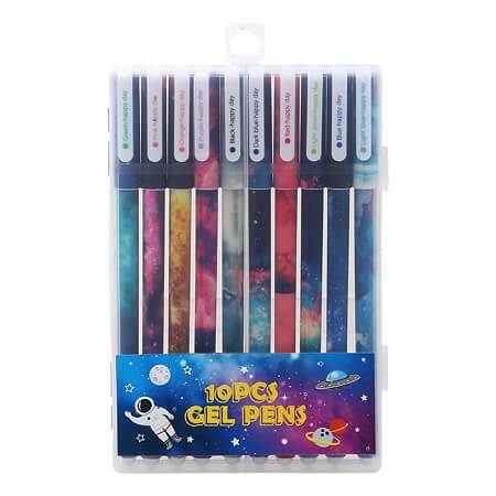 Galaxy Colored Gel Pen Set - 10 Pack