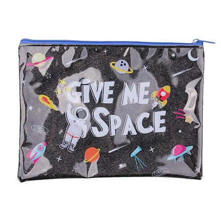 Outer-Space PVC Document Bag
