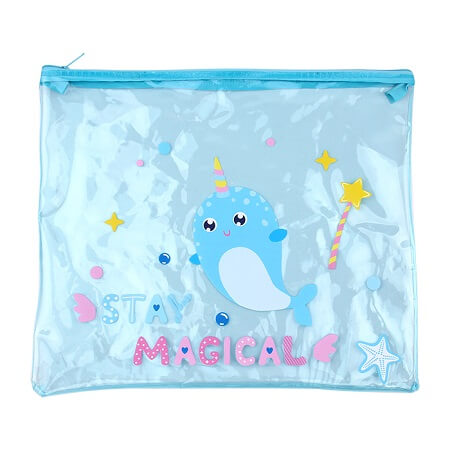 Narwhal Blue Clear File Pocket