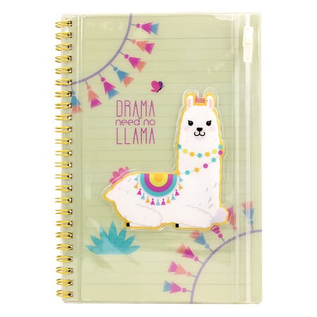 Spiral Notebook with PVC pouch