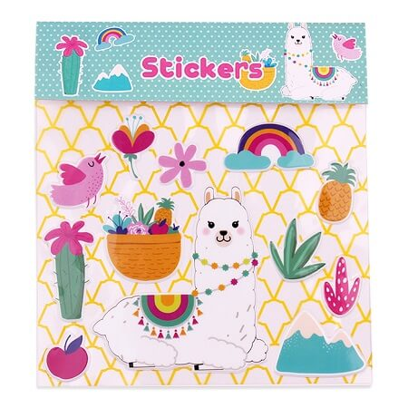 Cartoon Alpaca Stickers