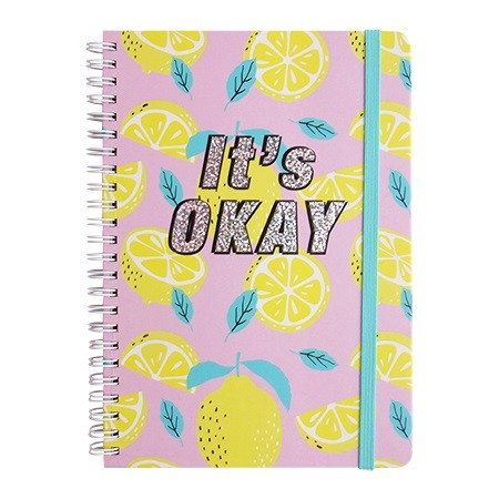 Cute Spiral Notebook - Lemon