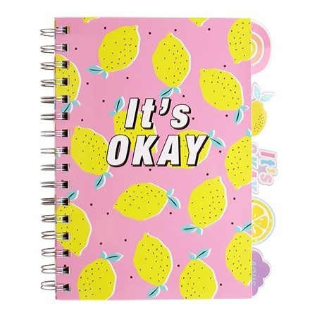 A5 Spiral Notebook with Dividers