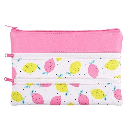 Triple Zip Pencil Case