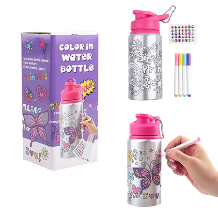 Color In Water Bottle